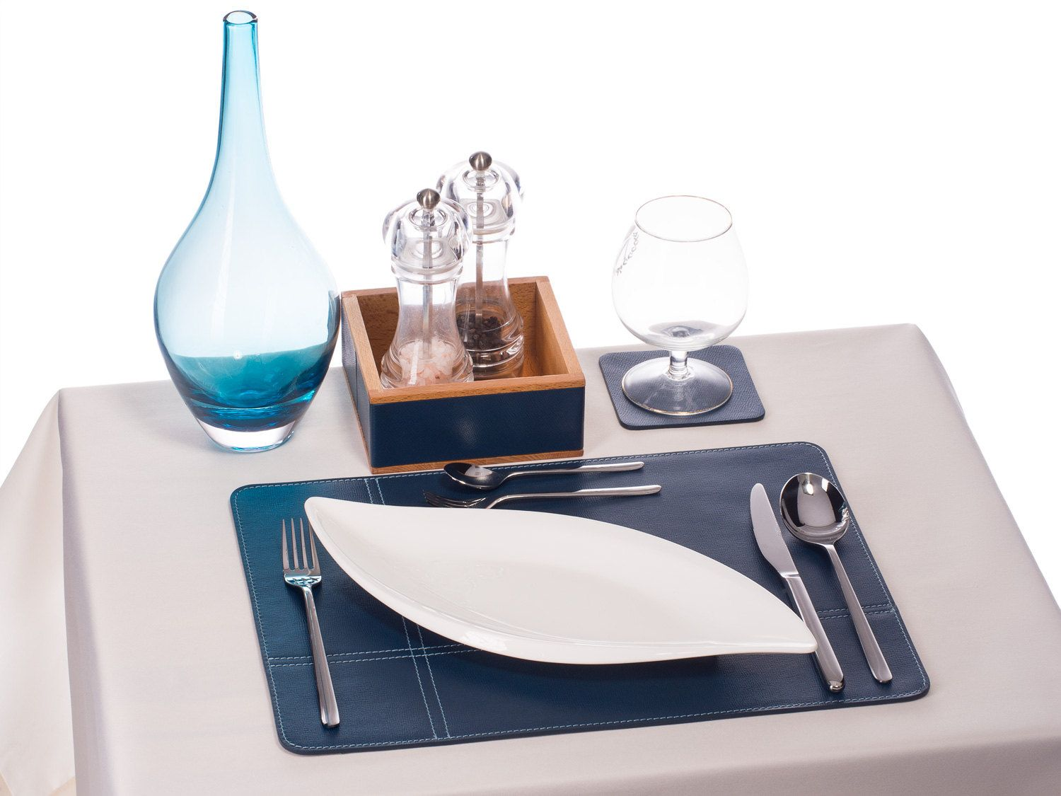 Leather Placemats Blue Table Mats