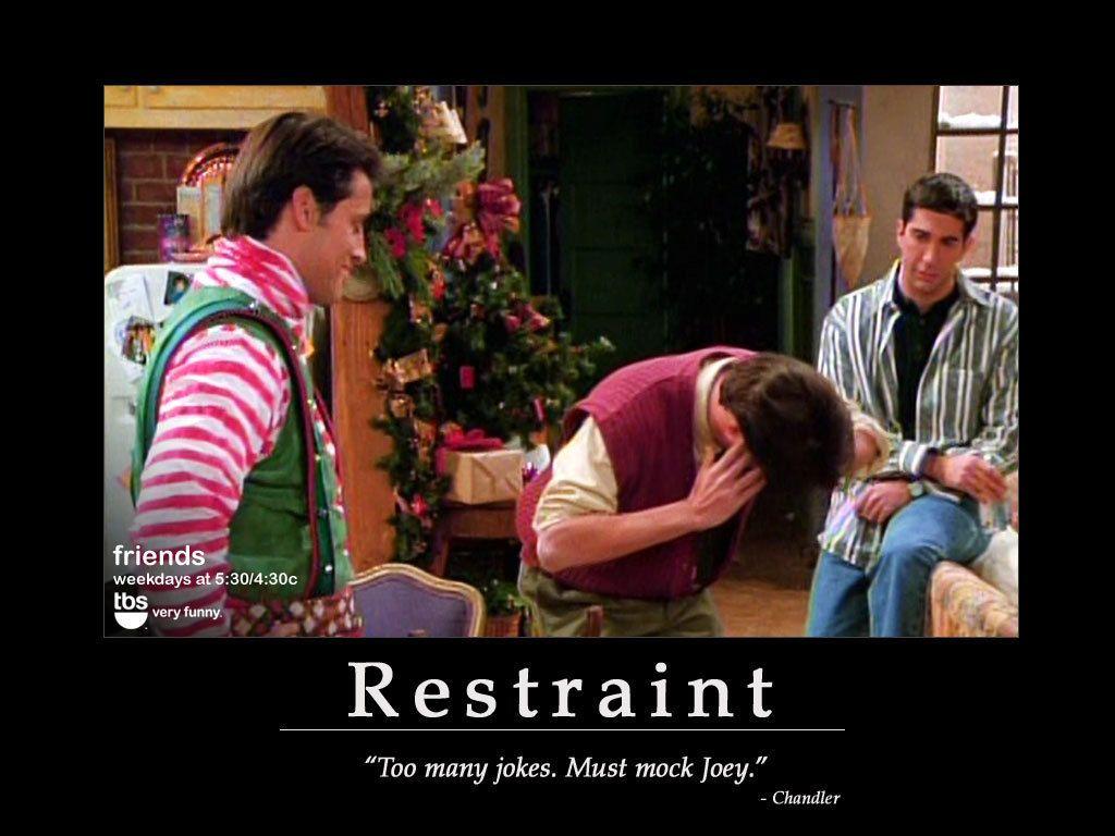 too many jokes. must mock Joey. Friends tv show, Friends