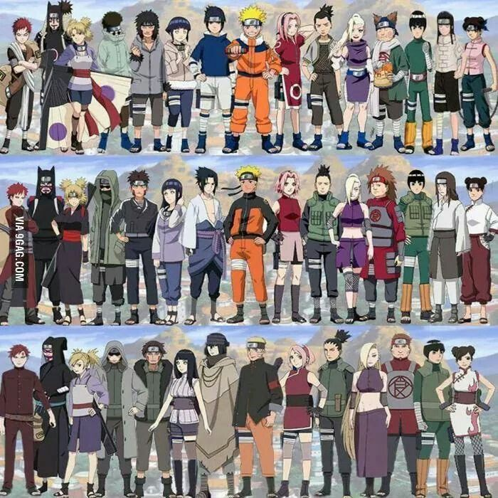 Naruto Characters Grown Up With Images Naruto Characters