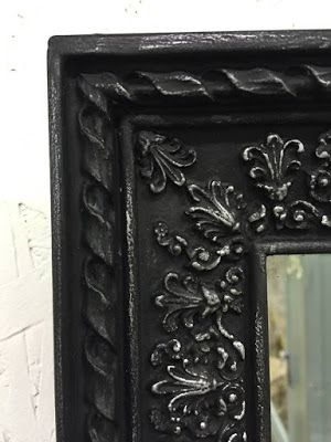A Variety Of Mirrors Refinished With Chalk Paint Black Chalk Paint Furniture Black Chalk Paint Painting Mirror Frames