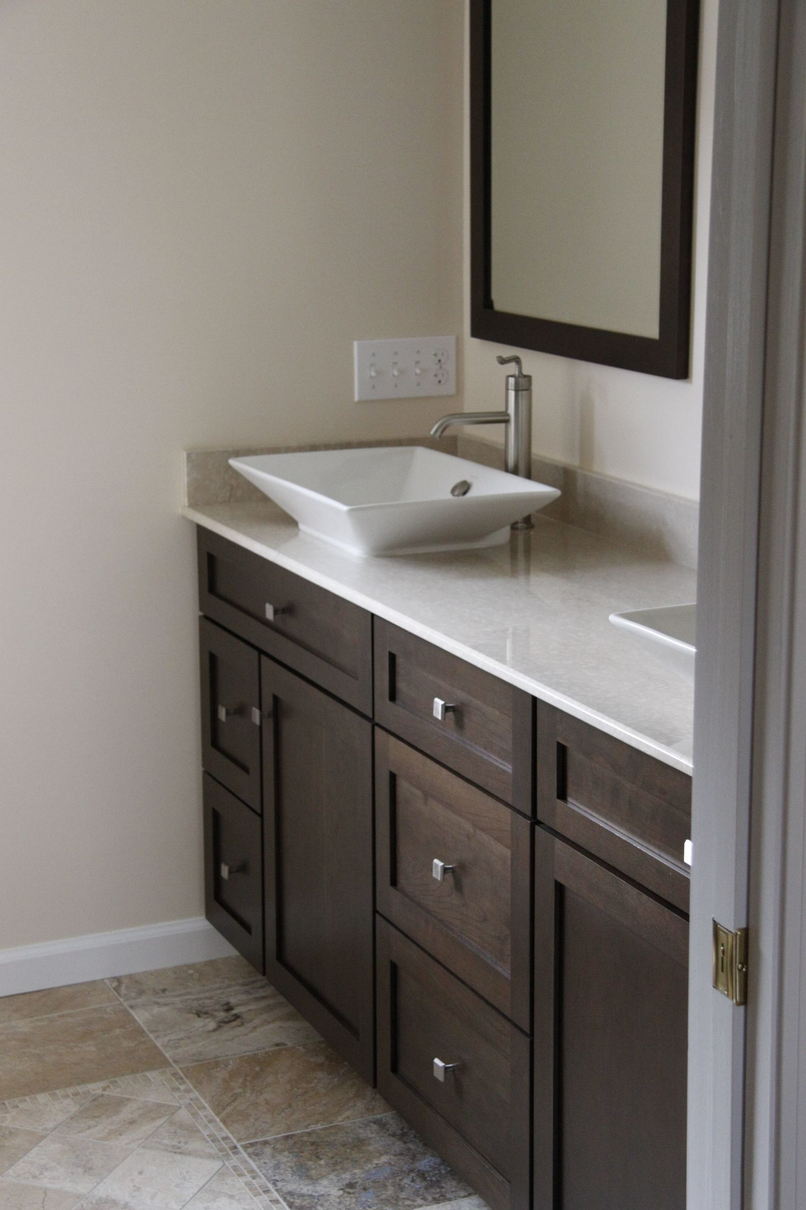 Dynasty By Omega Kitchen Cabinets From Ragonese Kitchen And Bath Vanity With Vessel S Painted Vanity Bathroom Rustic Bathroom Vanities Bathroom Vanity Designs