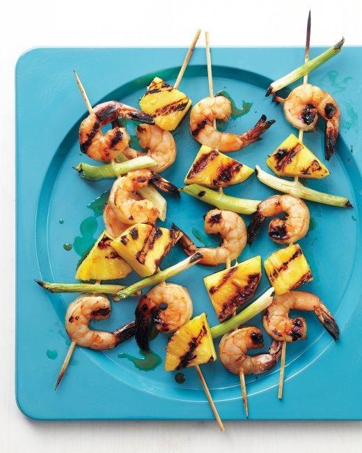 Shrimp-and-Pineapple Skewers Recipe