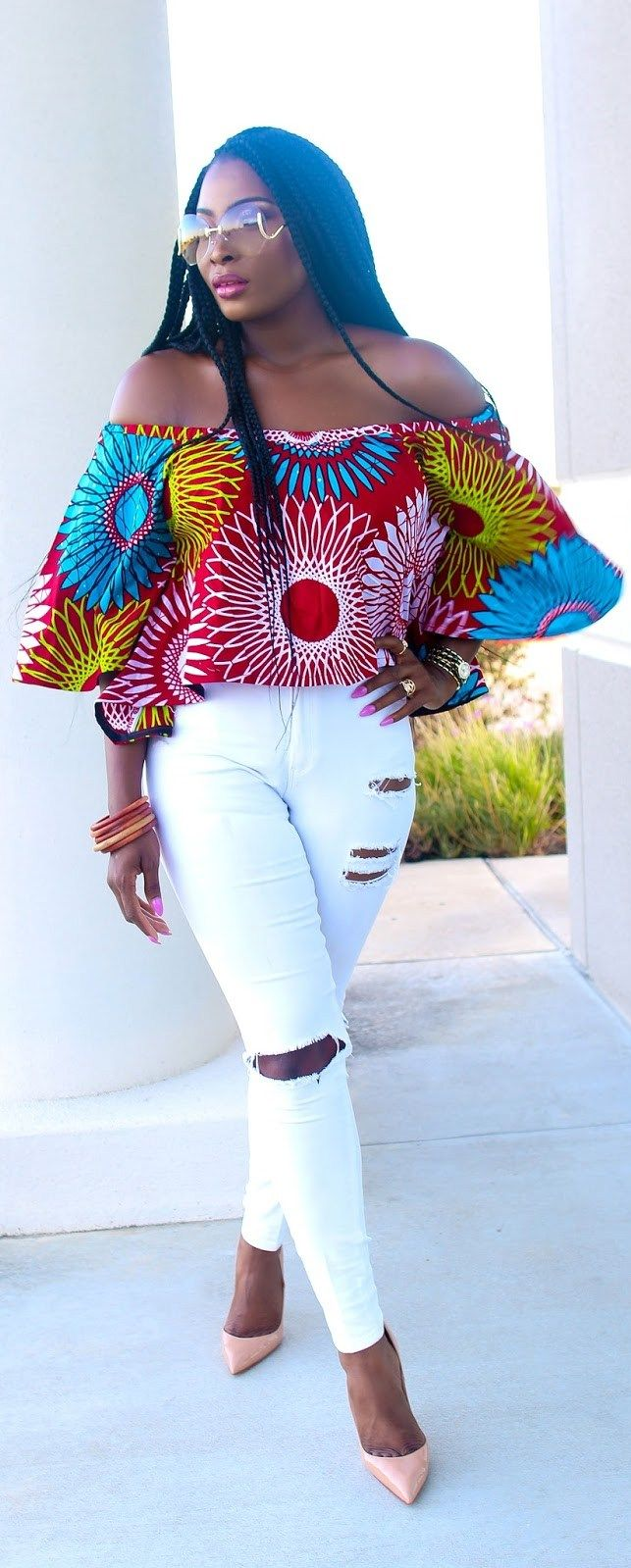 Off Shoulder Crop Ankara // Fashion Trend by Irony Of Ashi