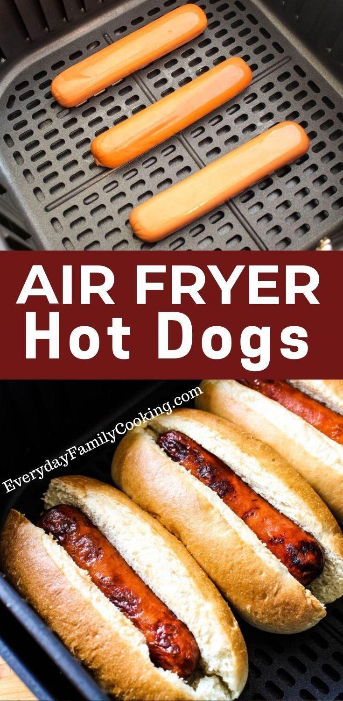 An easy air fryer dinner idea. These air fryer hot dogs