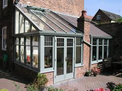 Lean to timber sunroom kits uk front and roof only for Lean to garden room