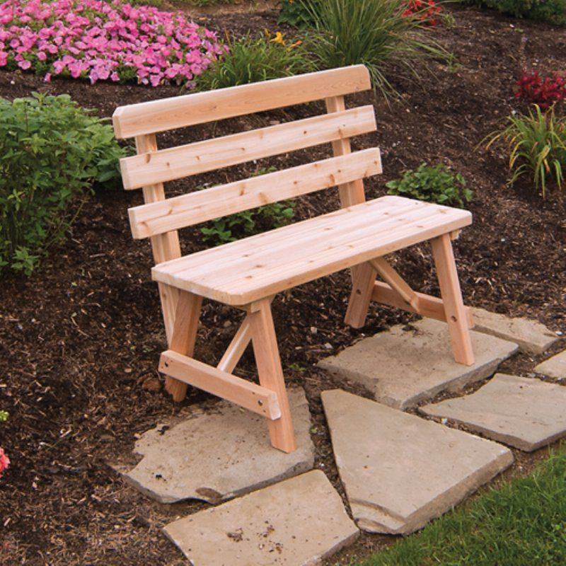 Outdoor & L Furniture Western Red Cedar Bench With