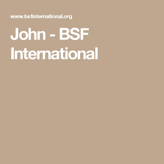 John Bsf International Bible Study Fellowship Bible Study Knowing God