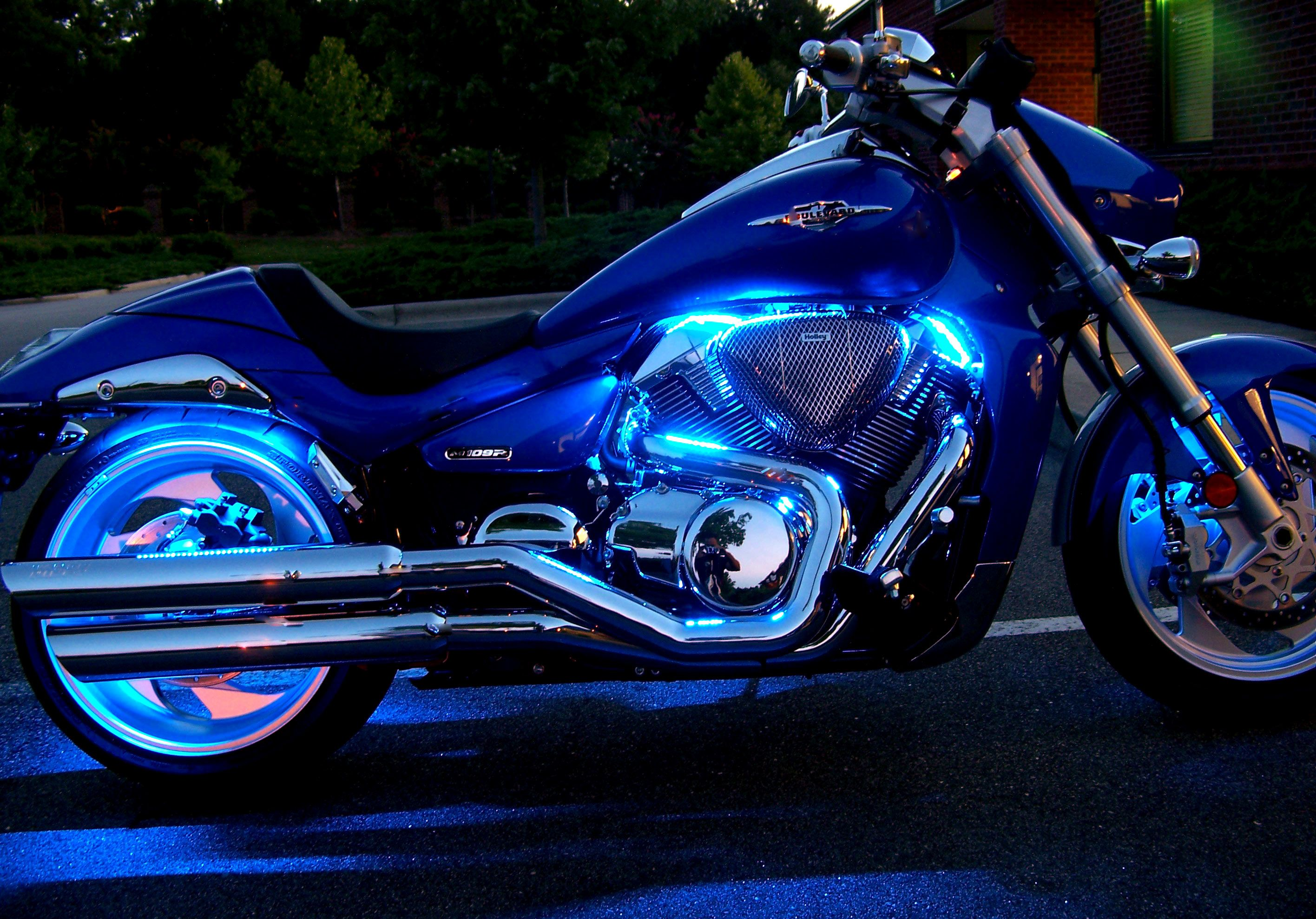Blue Motorcycle Led Light Kits Blue Motorcycle