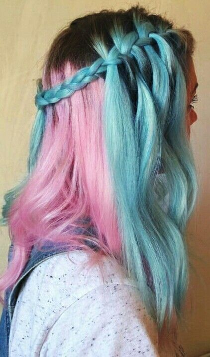 Dyed Hairstyles Interesting Pink Blue Dyed Hair  Cosplay Contacts  Pinterest  Pink Blue Hair