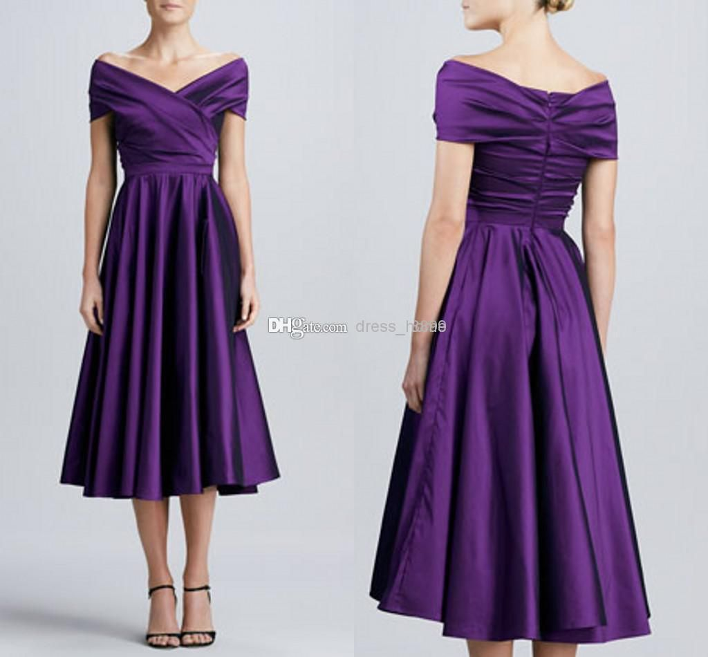 Wholesale 2016 New Bride Evening Dress Vintage Shoulder: Wholesale Mother Of The Bride Dresses