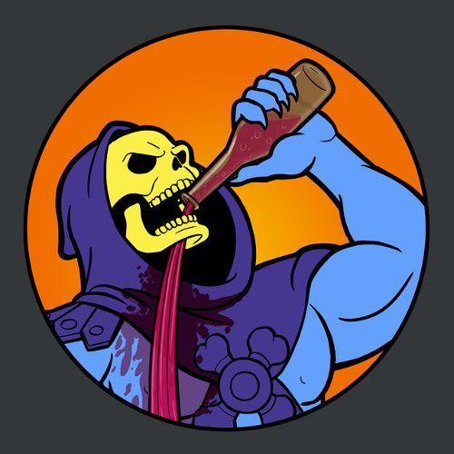 68da36be01d94474065a2d655a0c1179 skeletor drinking problems t shirt illustrations pinterest masters