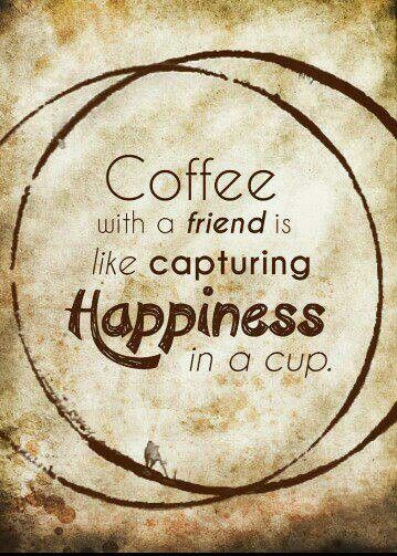 Coffee is happiness in a cup!!