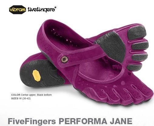 Vibram Five Fingers Womens Performa Jane Cerise/Black 41