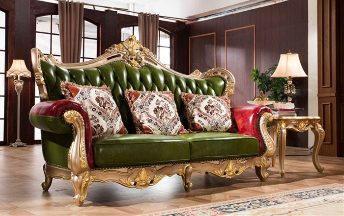 Green Living Room Wood Carving Sofa Set In Home Furniture, View Green  Living Room Sofa