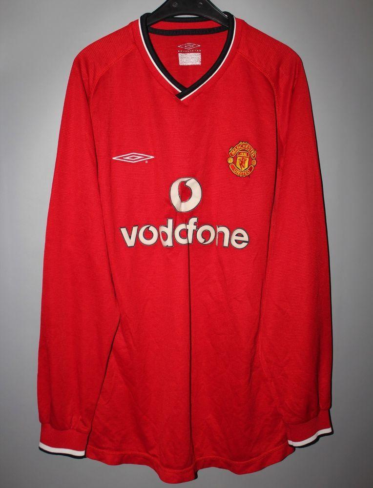 18bd5325c MANCHESTER UNITED ENGLAND 2000 2001 2002 HOME FOOTBALL SHIRT UMBRO LONG  SLEEVE (eBay Link)