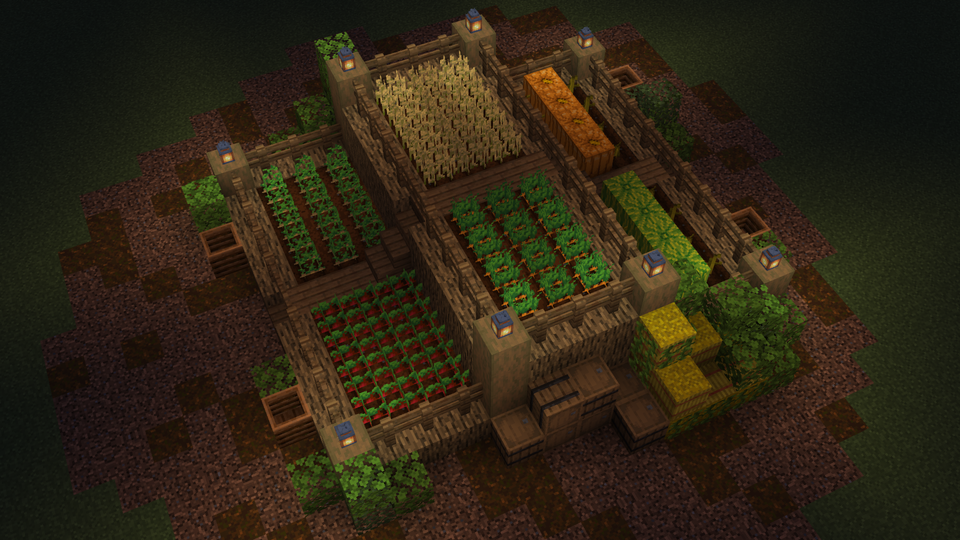 A simple farm for 6 types of food : Minecraft in 2020 ...
