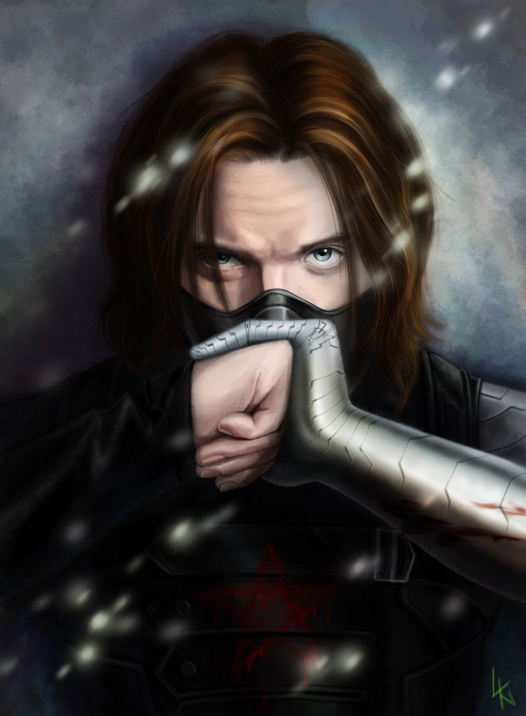 Make Up You Brain Winter Soldier Fanart By Lintares