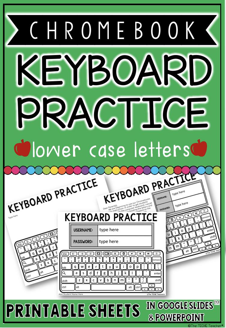 Chromebook Keyboard Printable Practice Sheets 2018 2019 Theme