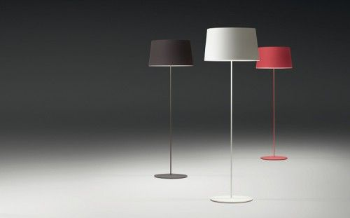 Vibia Warm 4906 aluminum dark brown, creamy-white and red