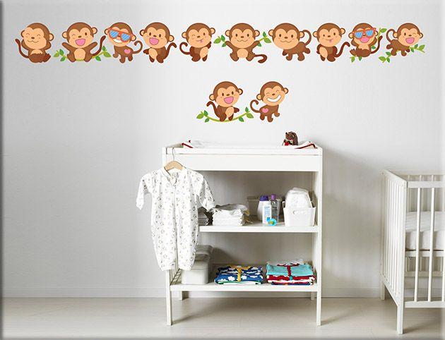 Adesivi murali greche scimmiette bimbi ws1245 | Adesivi murali ...