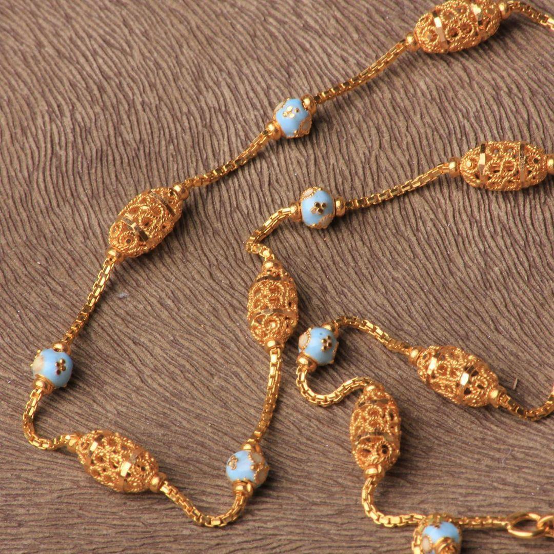 عقد طويل سبحه من ماسة جنة الهند كولكشن ذهب عيار ٢١ يوجد شحن الى جميع انحاء العالم للطلب و التسعير او Beaded Necklace Tassel Necklace Jewelry