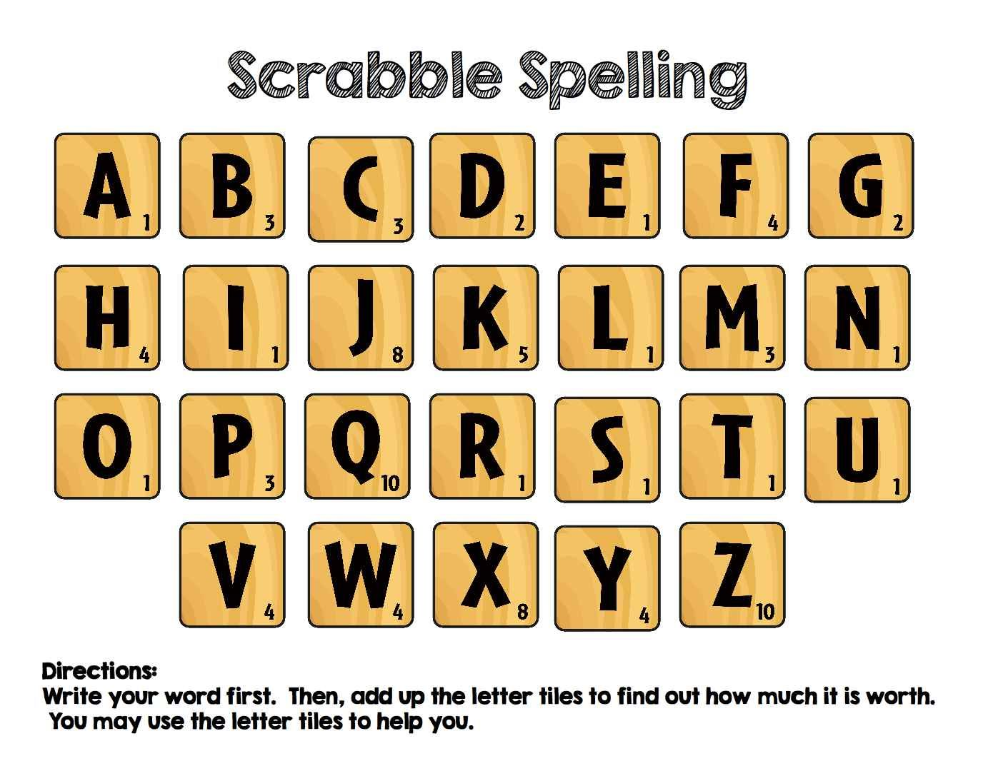 This Works As A Great Center For Word Work With Many Age Groups Students Will