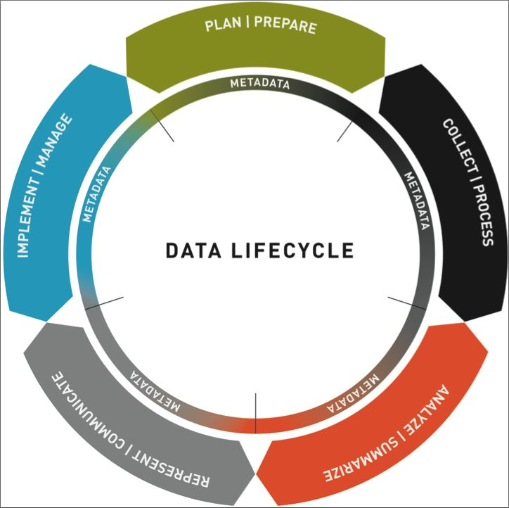 Data Lifecycle Graphic From Data Insights Book Data