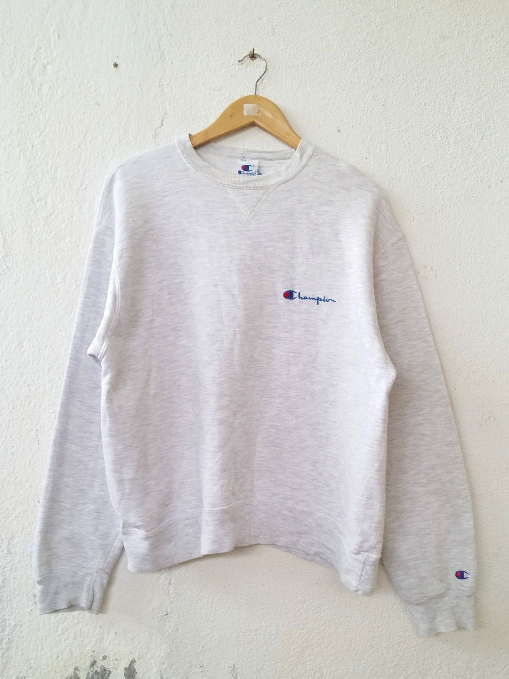 Vintage 90 S Champion Sweatshirt Athlete Apparel Small Spell Out Embroidered Jumper Sweater Pull Over Swag Hip Hop Stre Clothes Champion Sweatshirt Sweatshirts [ 1361 x 1020 Pixel ]