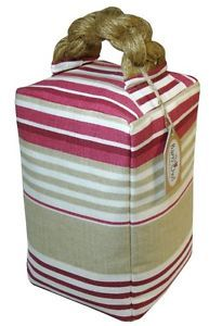 DOOR STOP Laura Ashley Fabric Irving Stripe Cranberry Contemporary Shabby  Chic | EBay