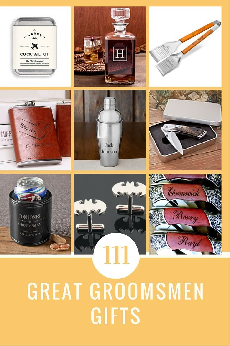 Great ideas for grooms groomsman gifts wedding favors