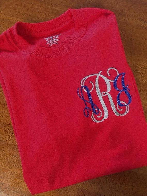 Monogrammed Star Sleeve Raglan - Fourth of July Shirt - Red White and Blue Monogrammed Tshirt - Monogram Baseball Shirt - July 4th Tee mgodyFEle