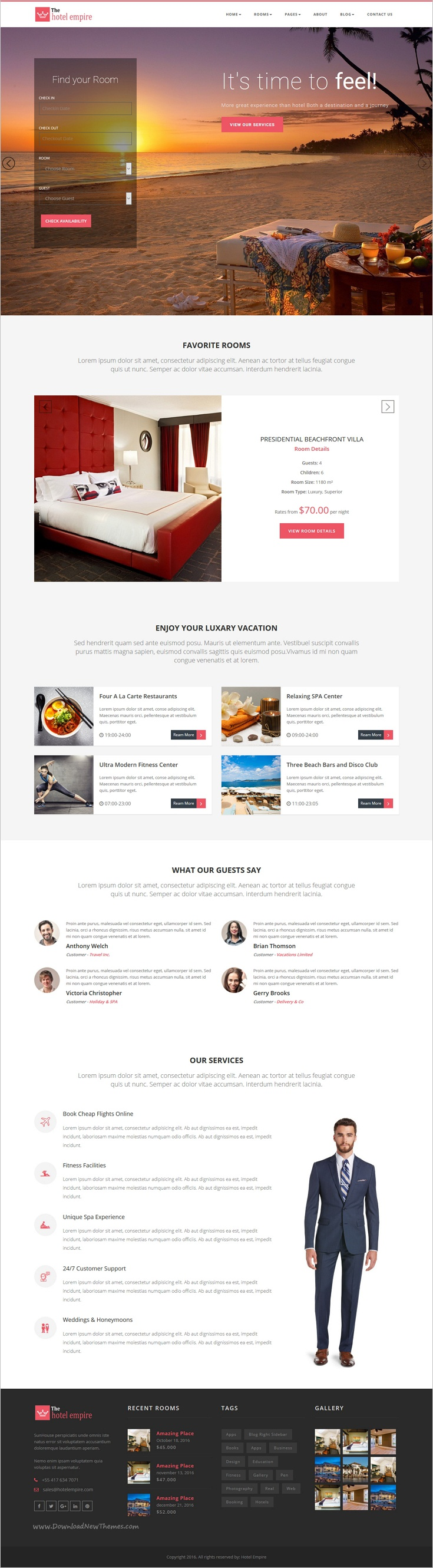 Hotel Empire - Hotel Reservation HTML Template | Empire Hotel and ...