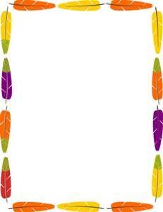 Bing border. Native american clip art
