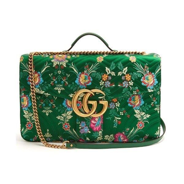 16ee86130ea146 Gucci GG Marmont maxi floral-jacquard shoulder bag (€2.845) ❤ liked ...