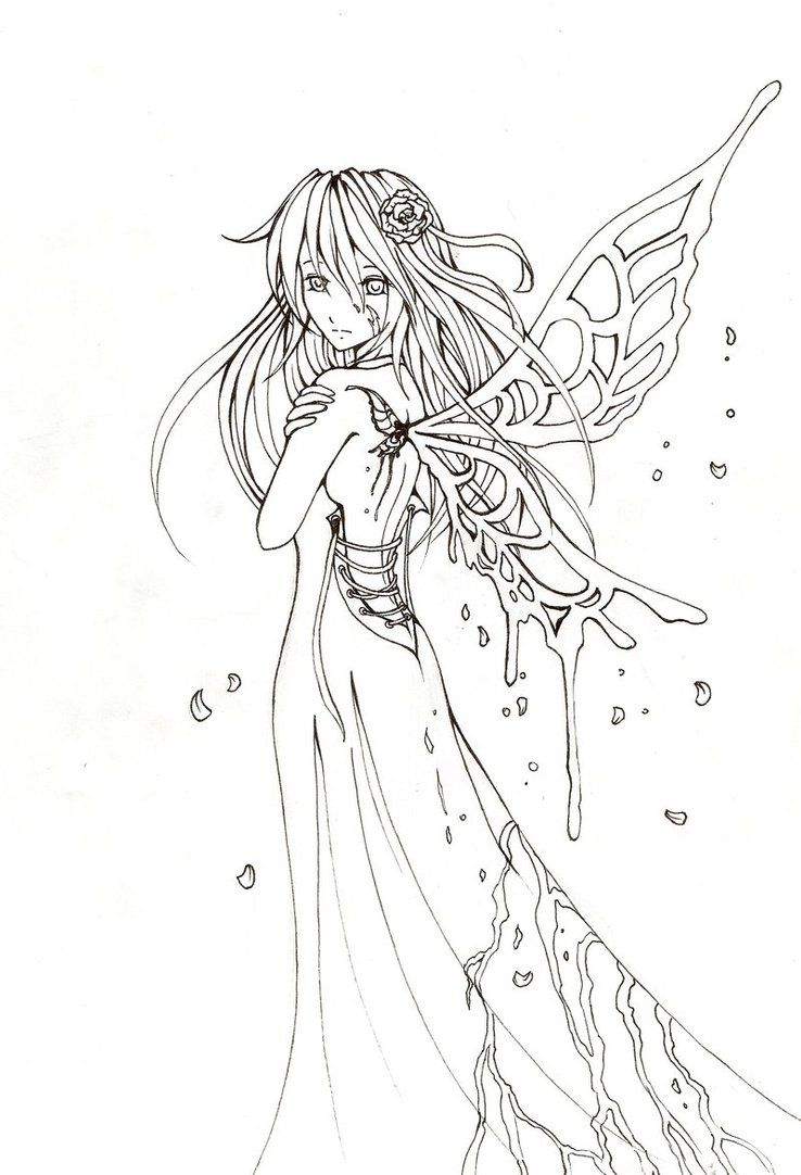 Yuki lineart by Villo16 on DeviantArt | clase | Pinterest | Elfo ...
