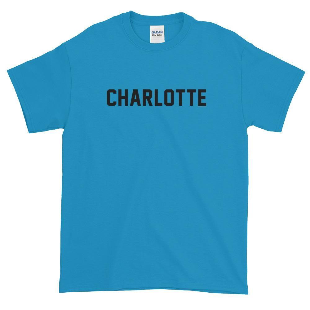 Charlotte North Carolina Jersey Font Short sleeve t-shirt   Short ...