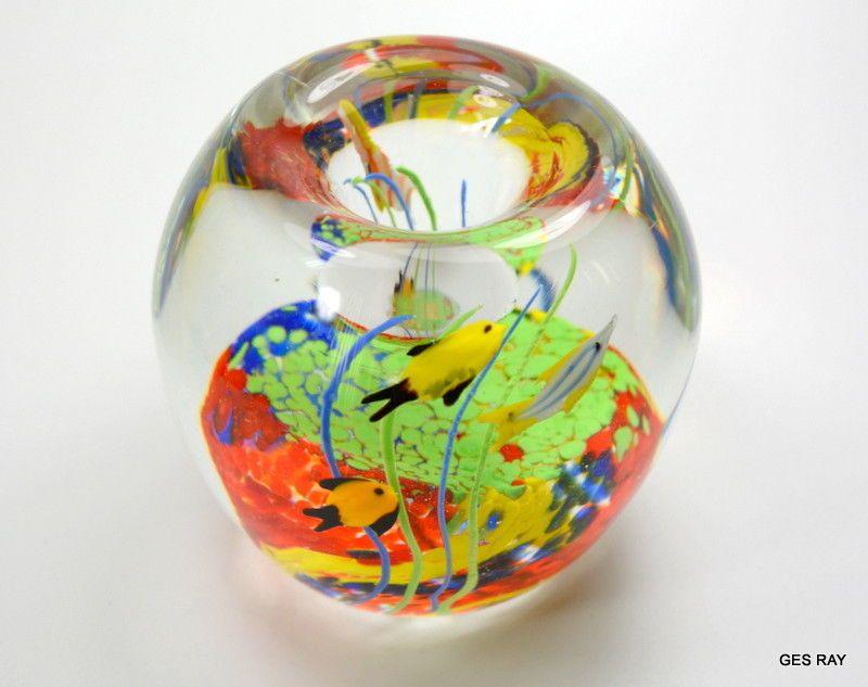 Art Glass Glass Paperweight Art Glass Globe Paperweight Decor Blown Paperweight Glass Globe Desk Art Round Glass Art Glass Sculpture