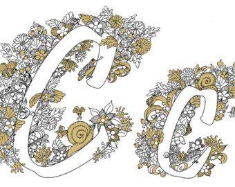 Letra un Zentangle inspirado en la fuente por coloringpages1