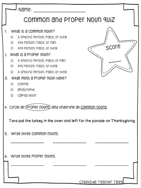 Common & Proper Noun Freebie | Pinterest | Alphabet, Englisch und Kind