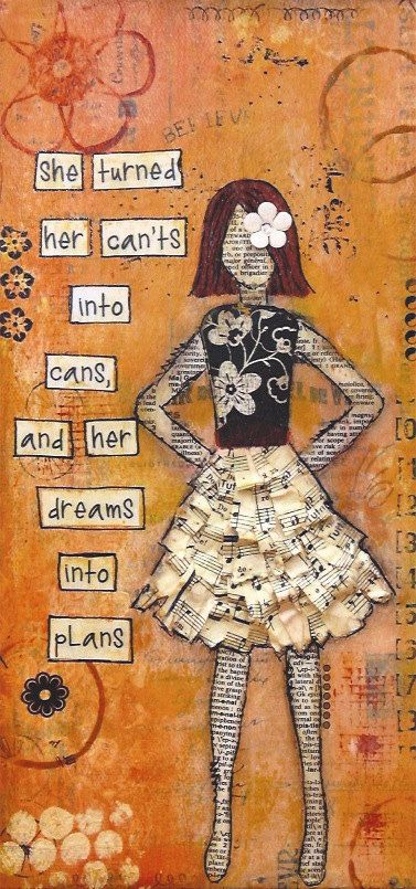 Dreams into Plans Fine Art Print by Sylvia Drown, Mixed Media Artist www.sylviadrown.com $23.00