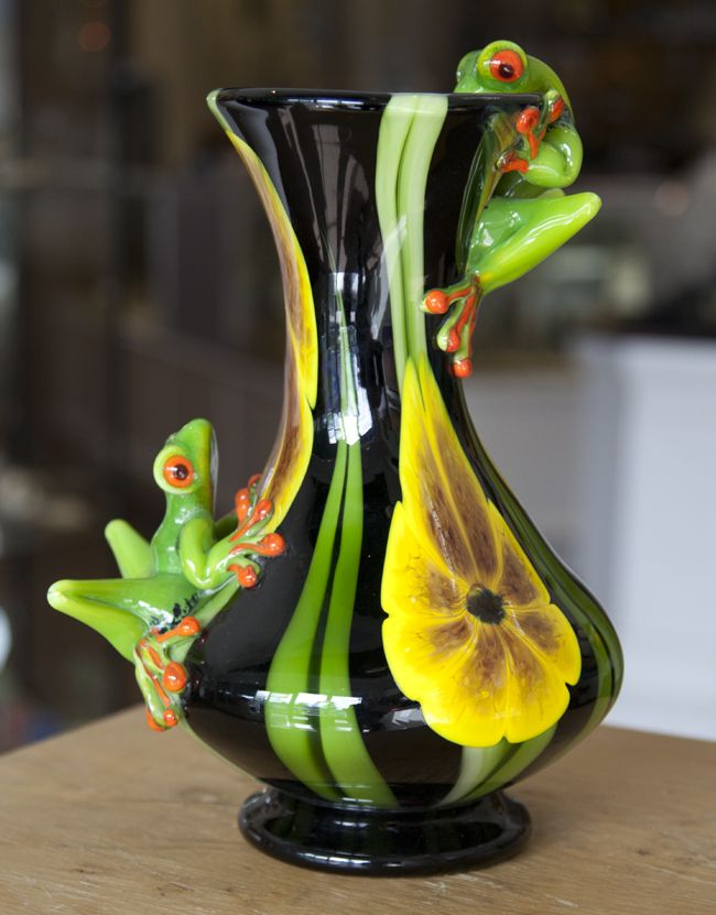 Two Frog Vase Frog Vasespottery Pinterest Frogs Glass And Toad