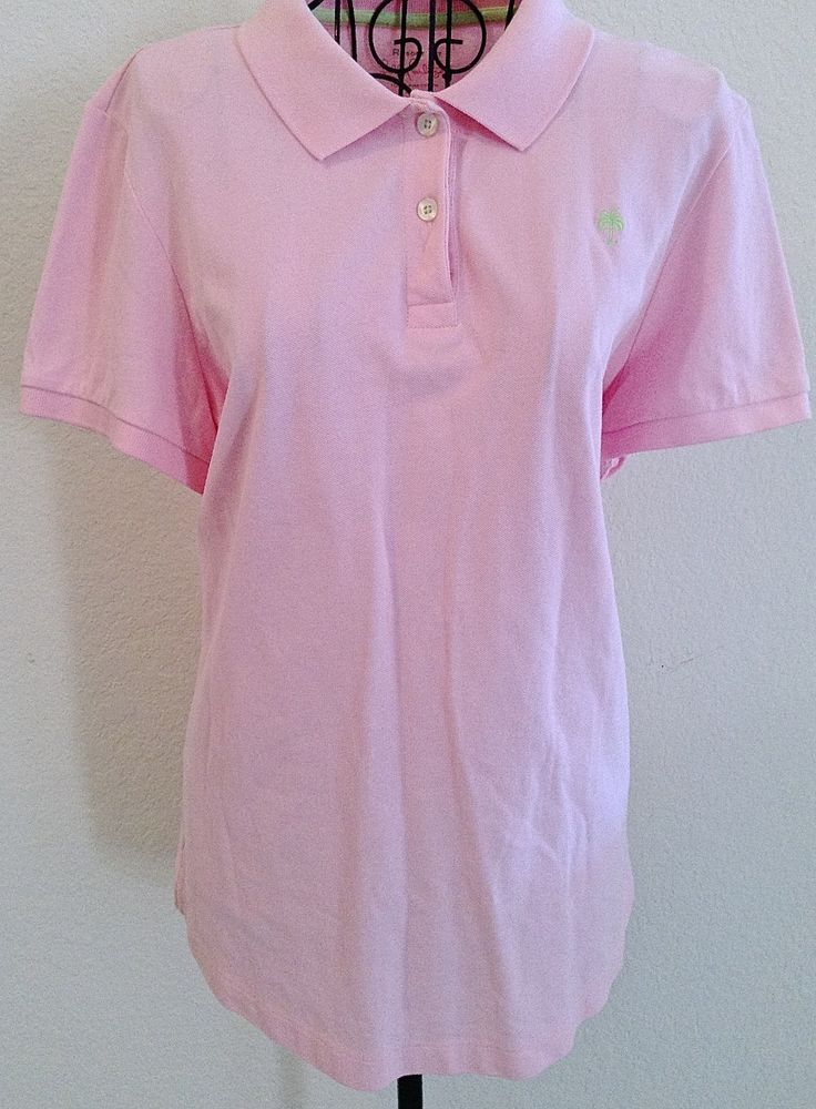 76fb6eb5c Lilly Pulitzer Polo Shirt Top Blouse Resort Fit Pima Cotton Pique Pink Size  L  LillyPulitzer  Top
