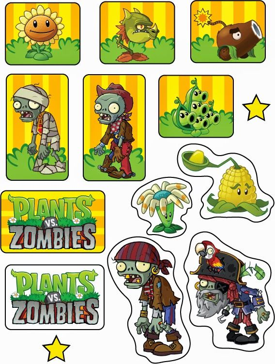 Oh My Fiesta In English Plants Vs Zombies Free Printable Cupcake Toppers And Wrappe Zombie Birthday Zombie Birthday Parties Plants Vs Zombies Birthday Party