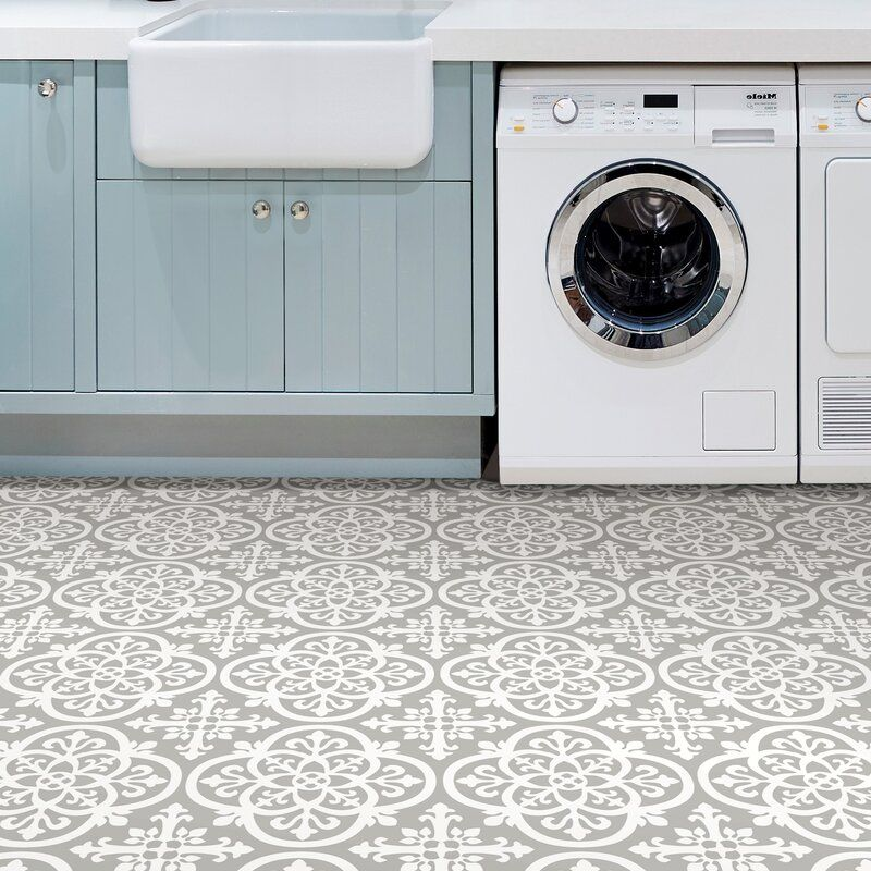 Gothic 12 X 12 X 0 6mm Vinyl Tile In 2020 Peel And Stick Floor Self Adhesive Floor Tiles Laundry Room Tile