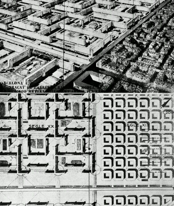 Sert masterplan for Barcelona | Maps | Pinterest | Urban ...