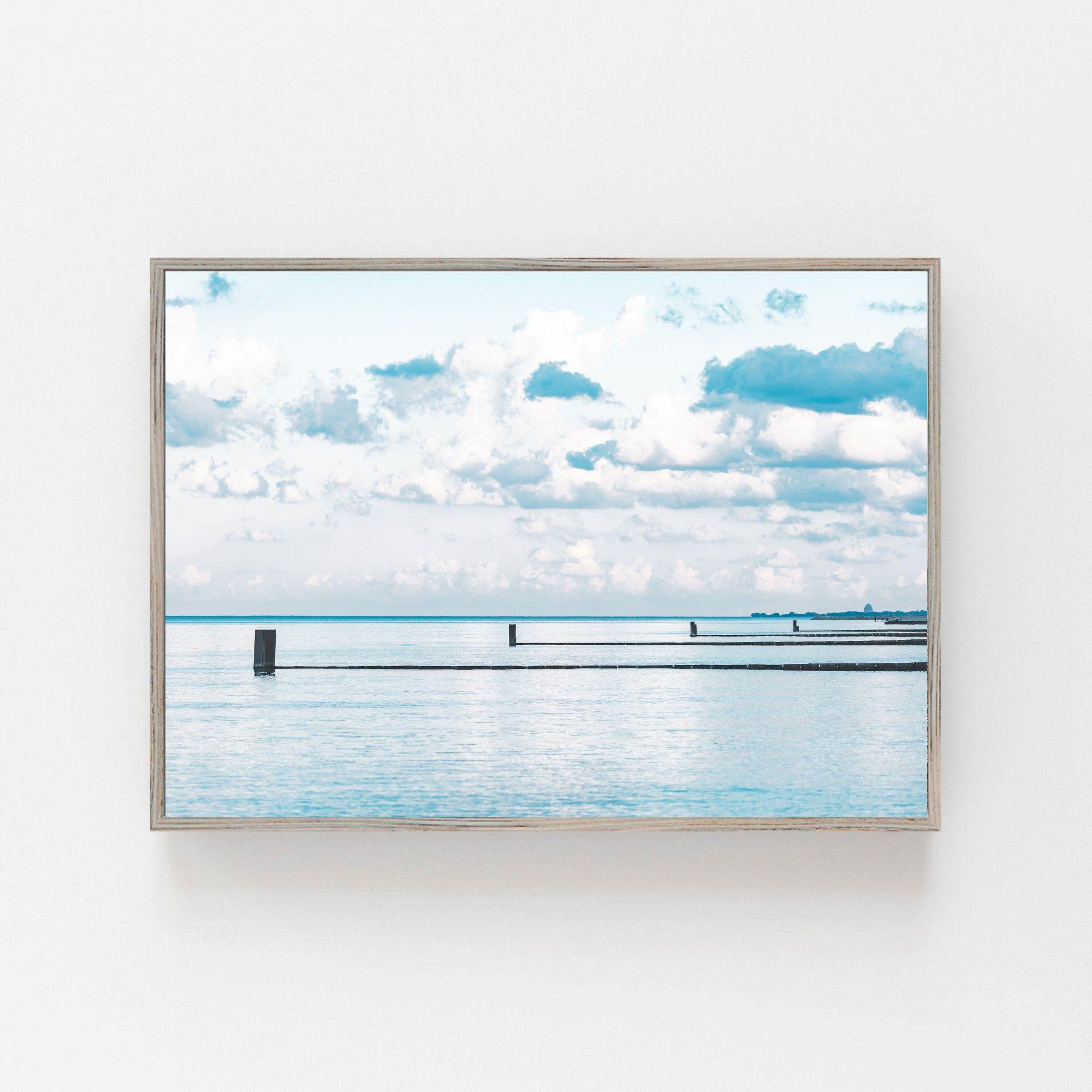 Lake Michigan Beach Wall Art Lake Michigan Canvas Instant Etsy Beach Wall Art Wall Prints Lake Michigan Beaches