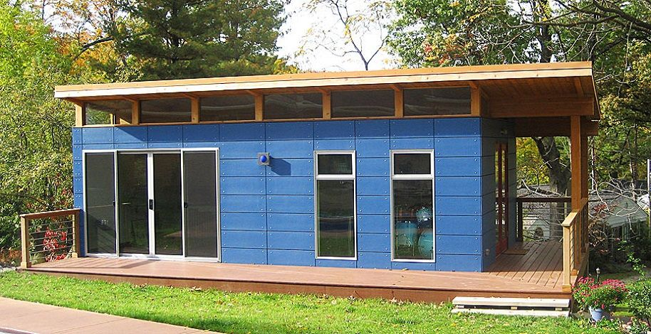 modern shed Seattle company that makes prefab buildings Small