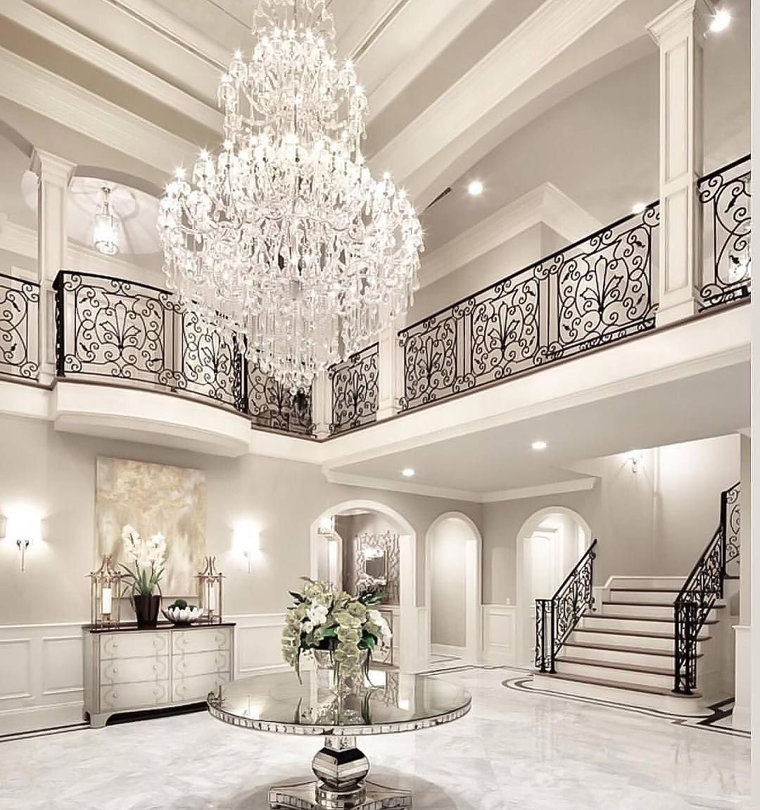 Look At Some Grand Foyers From Houzz Com: Pin By Karen Lao On 2 Storey Fireplace