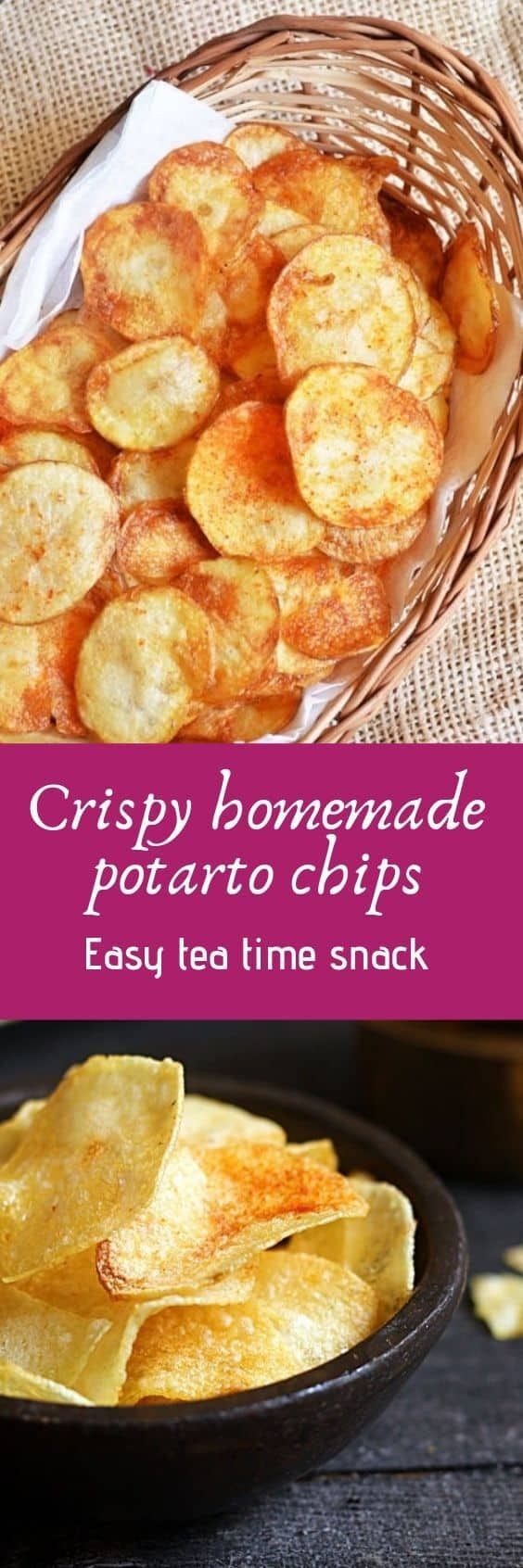 Potato chips recipe- sharing my easy tried and tested recipe for making homemade potato chips. crispy, light and very delicious potato chips that you can flavor as you please. It is really easy and with few tips you can make best potato chips are home. Here is how to! Recipe via