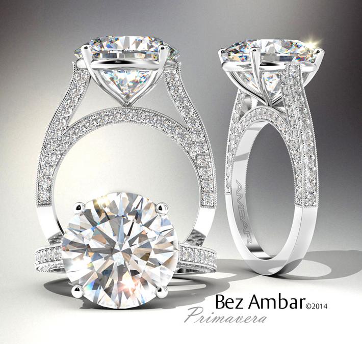 Bez Ambar's Primavera engagement ring. #diamondjewelry #engagementrings  www.bezambar.com
